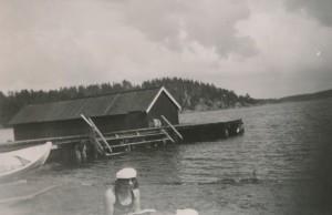 Rannan laituri ja venevaja 1930-luvun lopulla